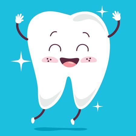 Brushing Teeth Concept With Cartoon Character Zdjęcie Seryjne - 142523910
