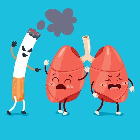 Cartoon Drawing Of Human Lungs