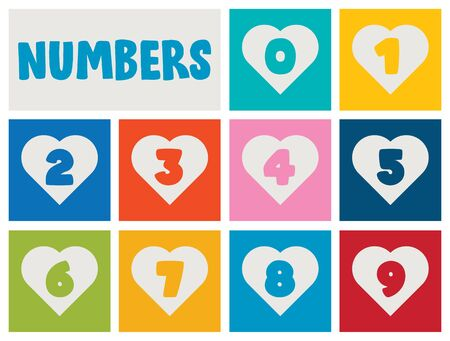 Set Of Numbers For Children Education