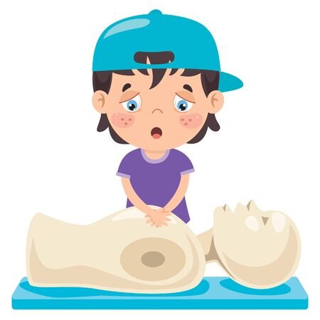 Cartoon Character Training First Aid