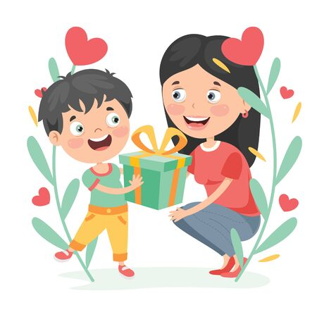 Concept Of Mothers Day Greeting Vetores