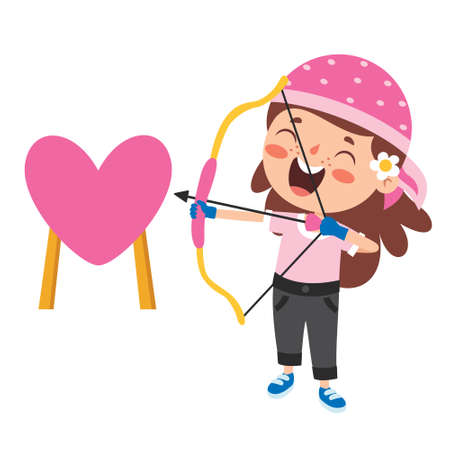 Love Concept With Cartoon Character