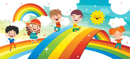 Concept Of A Colorful Rainbow