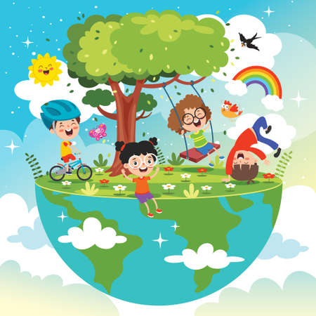 Concept Of Mother Earth Day Vecteurs