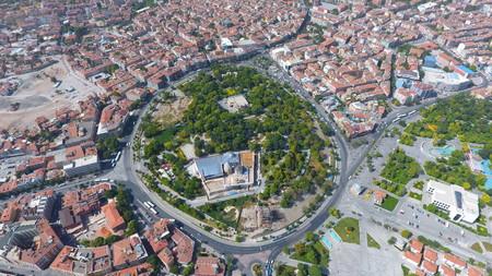 Aerial view of Konya City in Turkey