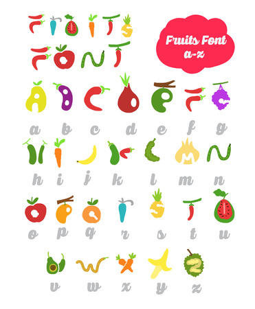 vector eps10: Fruit Alphabet. Vector Eps.10