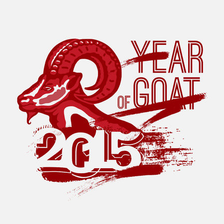 Year of Goat 2014. vector Vector