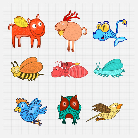 creature: Animal creature Collection Vector.