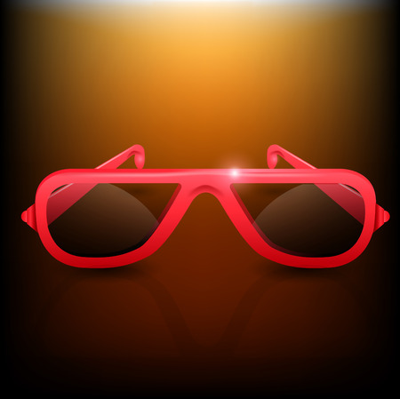 vector eps10: Red Sunglasses. Vector Eps.10 Illustration
