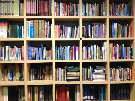 the shelf: Book shelf in library