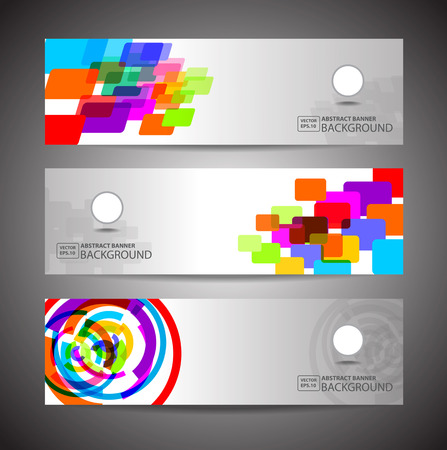 social gathering: Abstract Banner on white Background