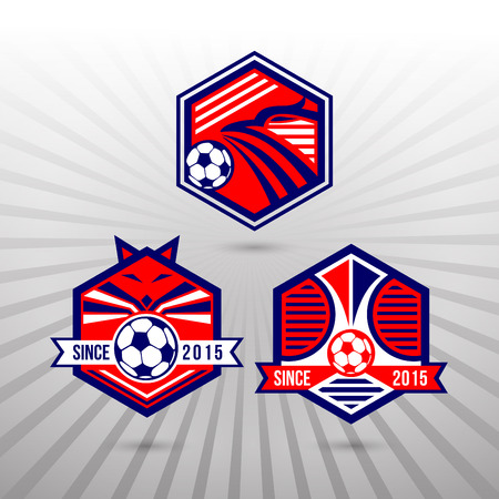 collegiate: Set of Soccer Football Badge Logo Design Templates