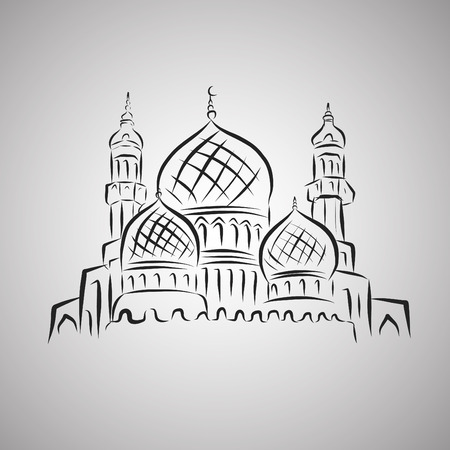mosque illustration: Vector Illustration of Mosque