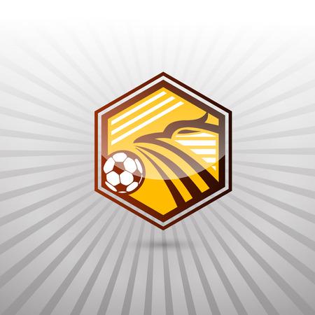 collegiate: Soccer Football Badge Logo Design Templates in Eagle Theme