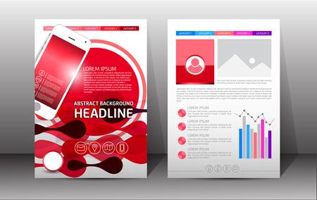 Flyer, Brochure, Booklet Design Templates. Front And Back Side ...