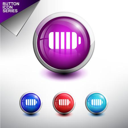 rash: rash Icon. Glossy Button Icon Set Illustration