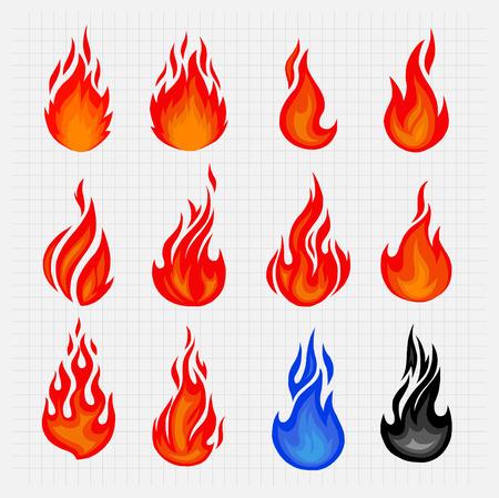 Fire Icon Vector Stock Vector - 42557847