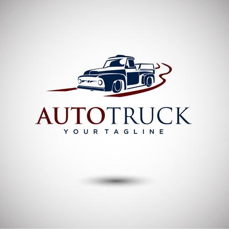 Truck Logo design or Vector of Car Silhouette Illusztráció