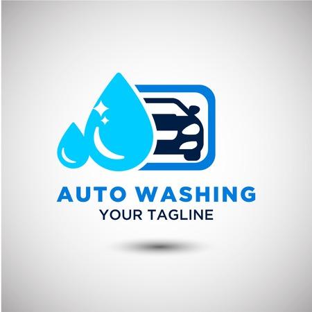 Auto Washing Car Logo design or Vector of Car Silhouette