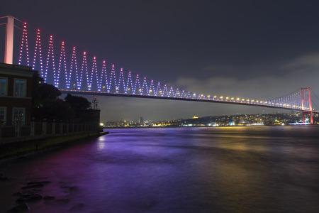 bosphorus: Bosphorus Bridge at night