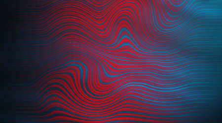 Colorful flowing chromatic dynamic waves