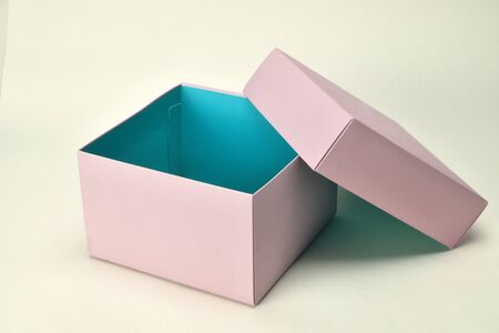 gift shopping box photography at clear background