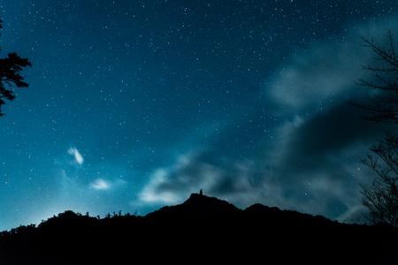 Megalith cielo y la noche Foto de archivo