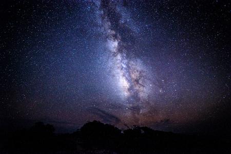 La Via Lattea di Yakushima Archivio Fotografico