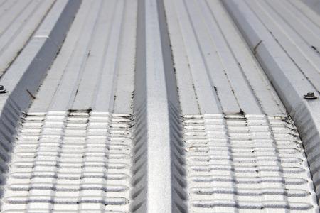 metal sheet: Metal sheet roof Stock Photo