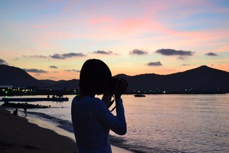 photography sunset sea shadow