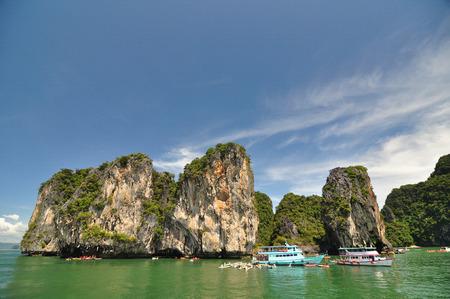 surreal landscape: Surreal landscape by Phang Nga Bay Thailand