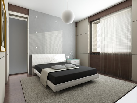 bedroom wall: Modern interior design  Bedroom