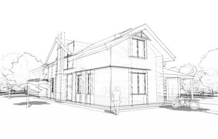 model van huis Stockfoto