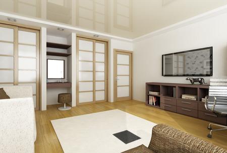 ceiling tile: 3d render of a modern interior
