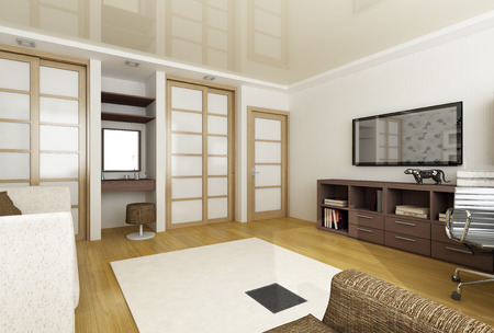recreation rooms: 3d render of a modern interior