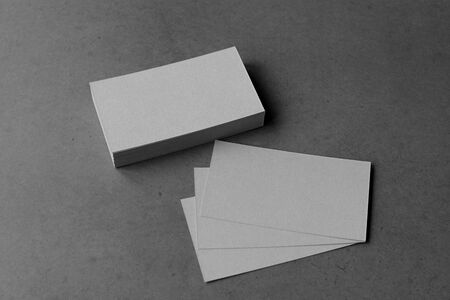 Business card on black background.
