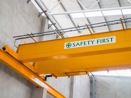 Test overhead crane inside the ware house