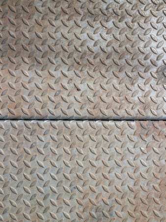 diamondplate: scratched and dirty used diamond plate for background  Stock Photo