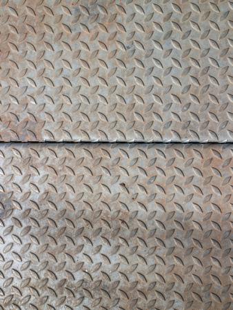 diamondplate: piatto del diamante usato graffiato e sporco per lo sfondo Archivio Fotografico