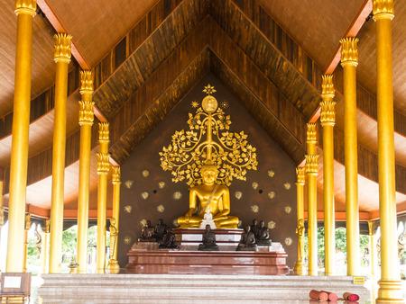 Buddha image in church of Wat Sirindhorn, Ubon Ratchathani. photo