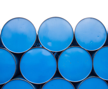 bio diesel: close up oil barrels or chemical drums stacked up