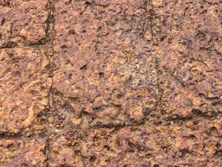 vesicular stone: Pumice stone texture on the footpath is beautiful in itself. Stock Photo