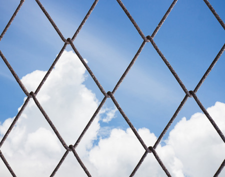 Wire Mesh. with sky photo