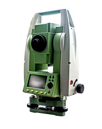 Surveyor equipment tacheometer or theodolite 版權商用圖片 - 32450091