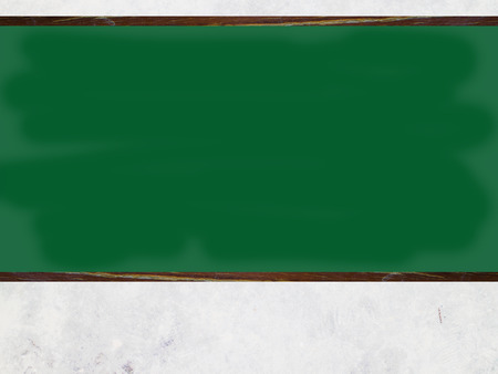 rasa: white with empty blank green chalkboard with wooden frame with white chalk in class room