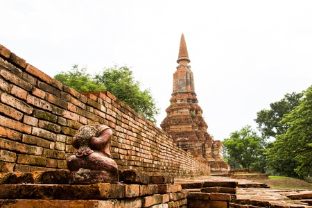 Ancient temple in Ayutthaya Thailand photo