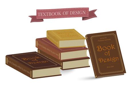 本ベクター イラスト分離されました。教科書。教育, 大学, 大学の知識のシンボル。書籍のスタック。分離された本。ブックカバー ベクトル図とし  イラスト・ベクター素材