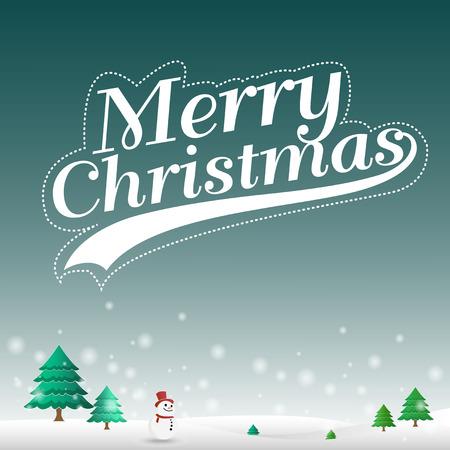 メリー クリスマス雪の風景の背景には、クリスマスの日に雪の風景の背景として設計する使用できます。ベクトル図