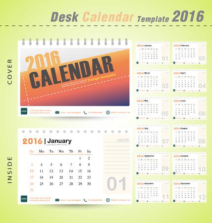 デスク カレンダー 2016年ベクトル モダンなデザイン テンプレート設定の 12 ヶ月ことができます会社オフィス ビジネス休日やプランナー ベクトル図