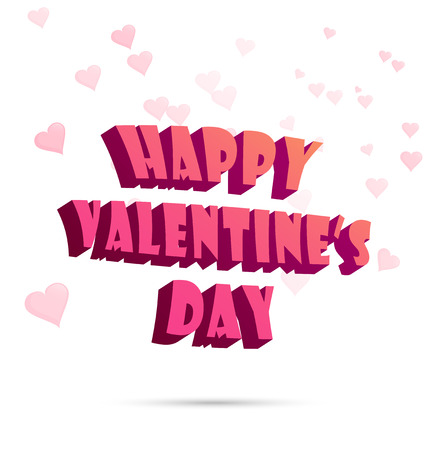 ポスター、要素、バナー テンプレート ベクトル図の幸せなバレンタインデーのラベル、記号、心パターン背景上のタイポグラフィを使用できます。